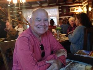 Tom is happy at Sardine Lodge.